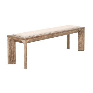 Parfondeval Wood Bench by Lark Manor