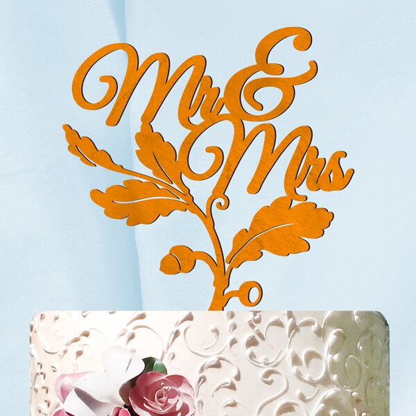 Mr. and Mrs. Fall Cake Topper by aMonogram Art Unlimited