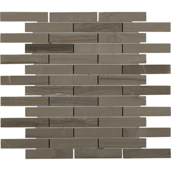 0.75 x 4 Marble Mosaic Tile in Athens Gray by Splashback Tile