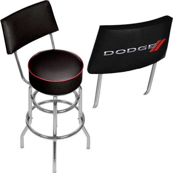Dodge Logo 31 Swivel Bar Stool by Trademark Global