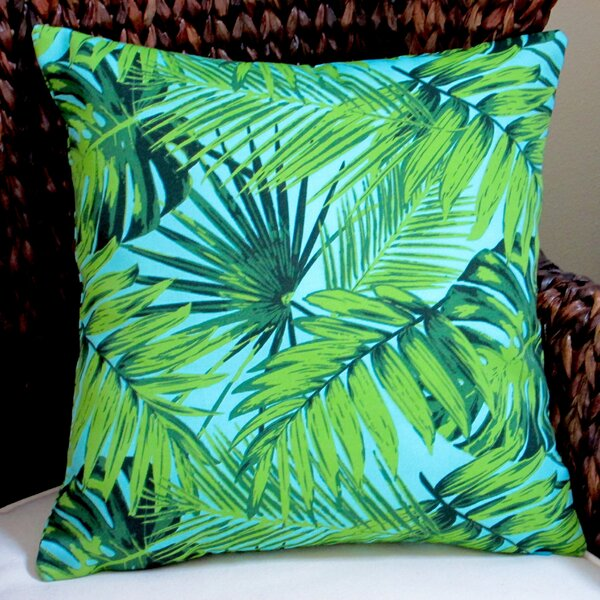 Tropical Fronds Modern Coastal Beach Hawaiian Indoor/Outdoor Pillow Cover (Set of 2) by Artisan Pillows