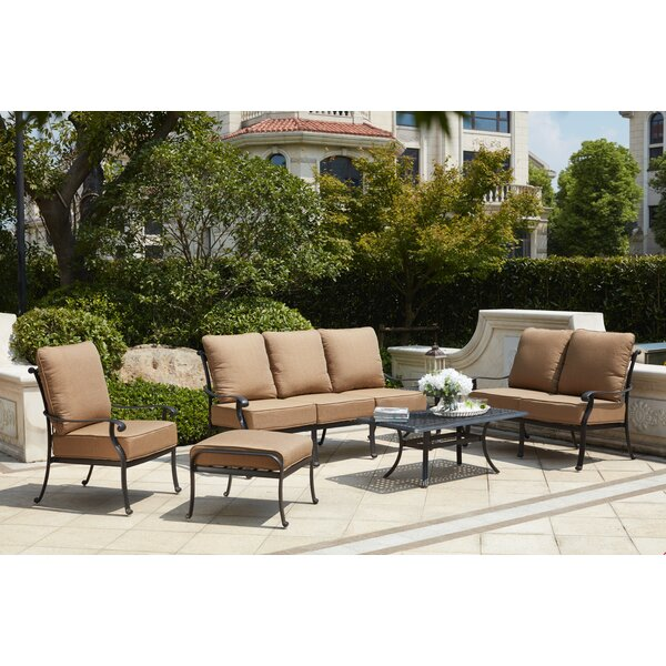 Melchior 6 Piece Sofa Seating Group with Cushions by Astoria Grand
