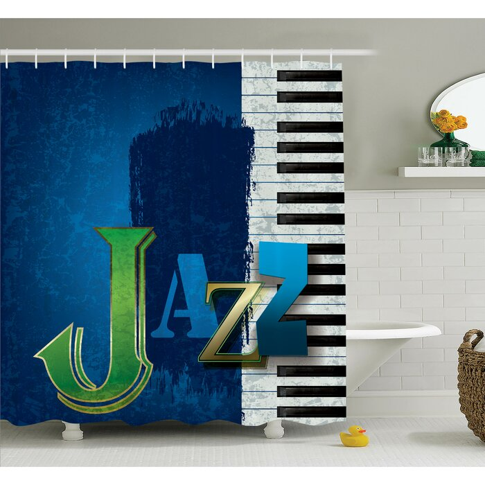 Ambesonne Music Jazz Piano Key Shower Curtain Set & Reviews ...