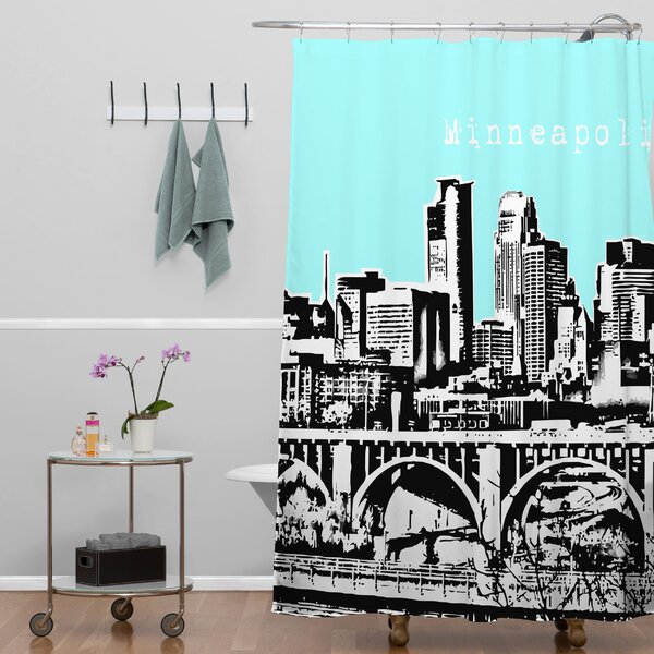 Bird Ave Minneapolis Shower Curtain by Deny Designs