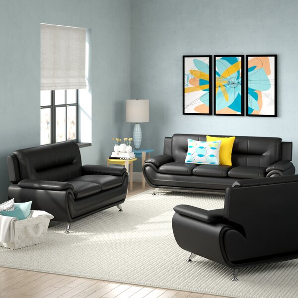 Gatto 3 Piece Living Room Set by Orren Ellis