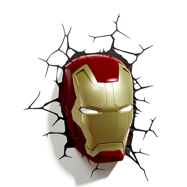 3D Iron Man Mask Deco 2-Light Night Light by 3D Light FX