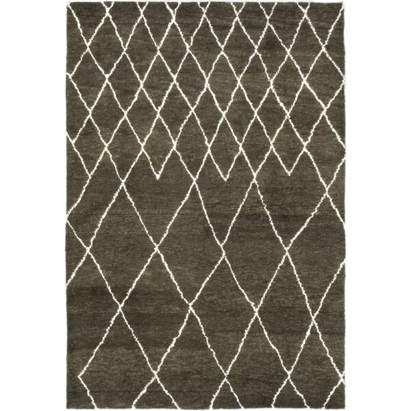 One-of-a-Kind Chelmsford Hand-Knotted Wool Brown Indoor Area Rug by Foundry Select