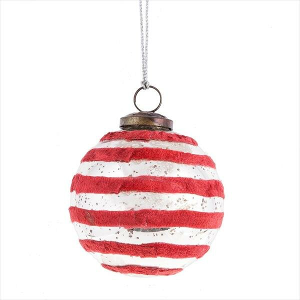 Father Frost Large Velvet Ball Ornament by Midwest Seasons