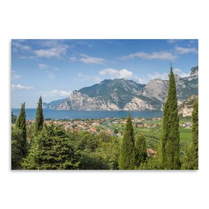 Lake Garda Panoramic View Photographic Print by East Urban Home