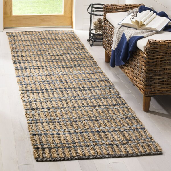 Bowen Hand-Woven Brown/Blue Area Rug by World Menagerie