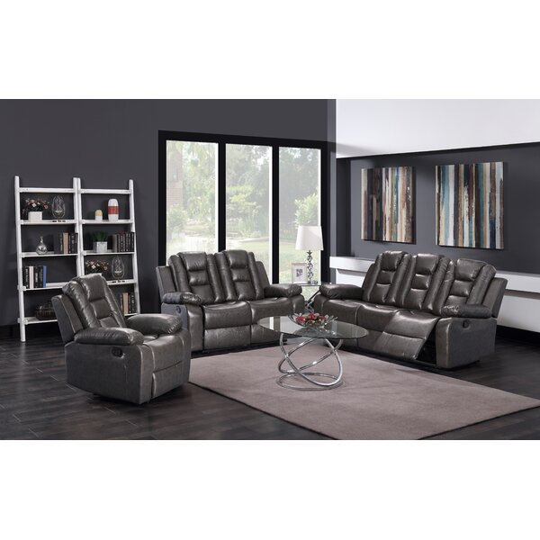 Bunsley 3 Piece Reclining Living Room Set by Winston Porter