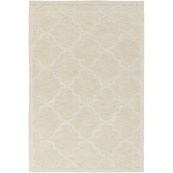 Blankenship Hand-Woven Wool Beige Area Rug by Charlton Home