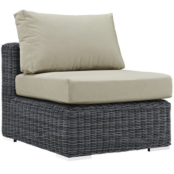Keiran Outdoor Patio Armless Chair with Cushion by Brayden Studio