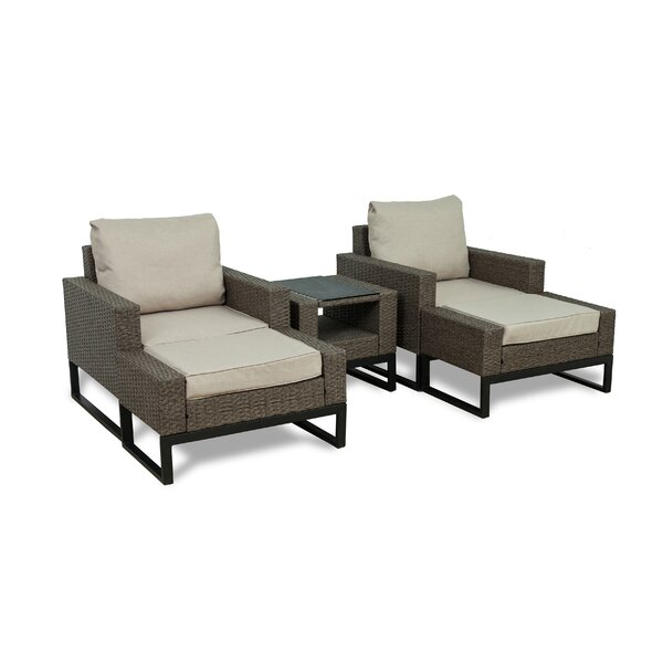 Bawden 5 Piece Rattan Conversation Set with Cushions by Gracie Oaks