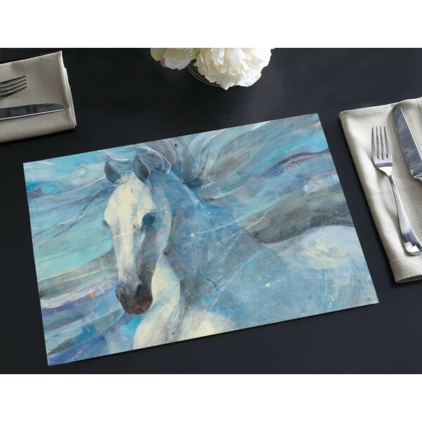 Roseboro Disposable Paper Dream Horse 18 Placemat (Set of 24) by Winston Porter