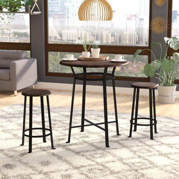 Grandview 3 Piece Dining Set by Ebern Designs