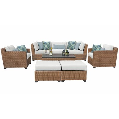 Sol 72 Outdoor Rattan Conversation Set Cushion Cushion Color Seating Groups