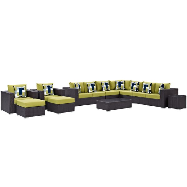 Brentwood 11 Piece Sectional Seating Group with Cushions by Sol 72 Outdoor Sol 72 Outdoor
