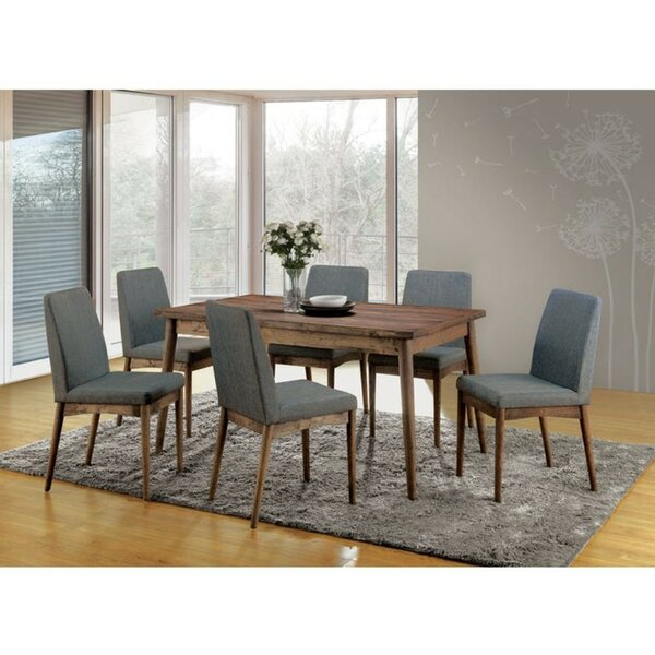 Find Hecker 7 Piece Solid Wood Dining Set By George Oliver Sale