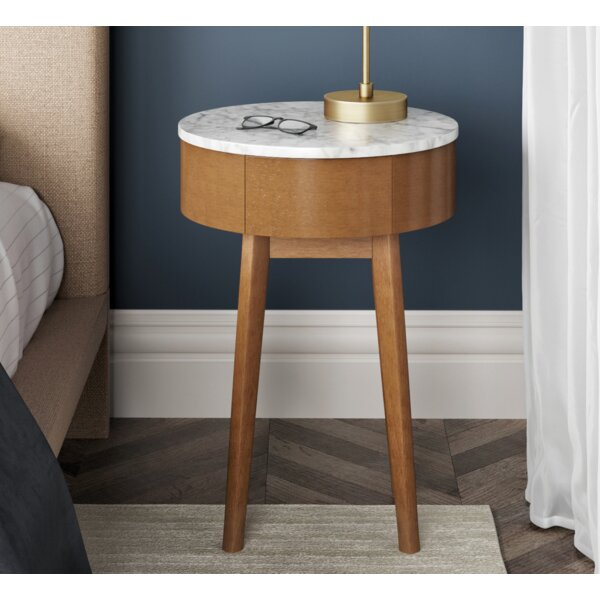 James End Table With Storage By Nathan James