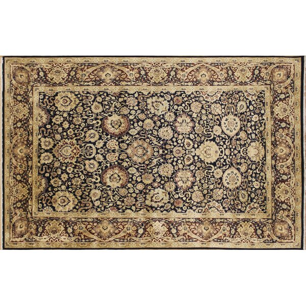 Sheffield Hand Knotted Wool Blue/Beige Area Rug by Astoria Grand