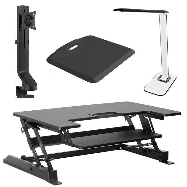 Bryant Height Adjustable 4 Piece Standing Desk Converter Set