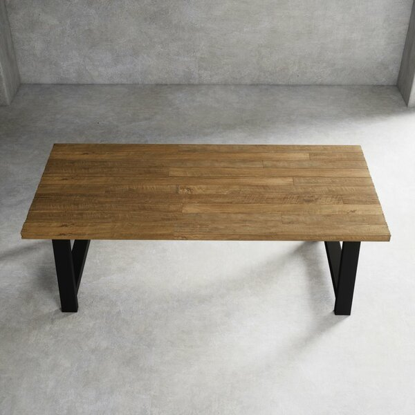 Sparks Rustic Farmhouse Solid Wood Dining Table by Foundry Select