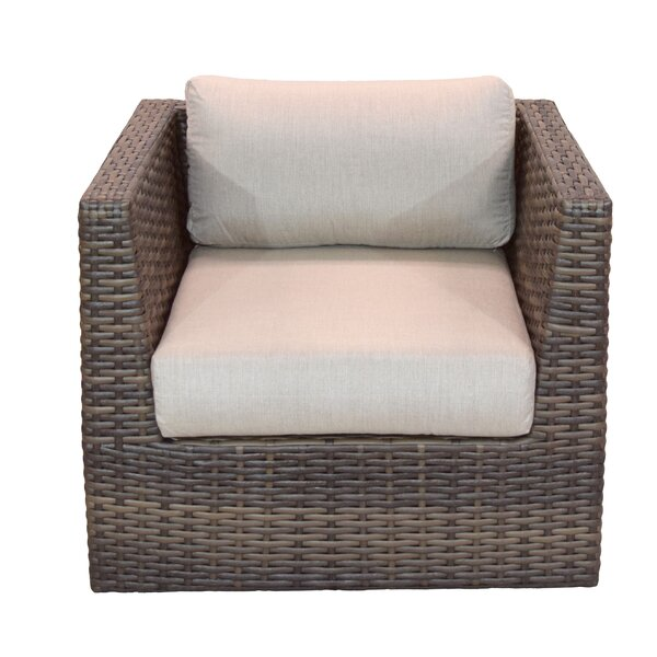 Cribbs Patio Chair with Sunbrella Cushions by Highland Dunes