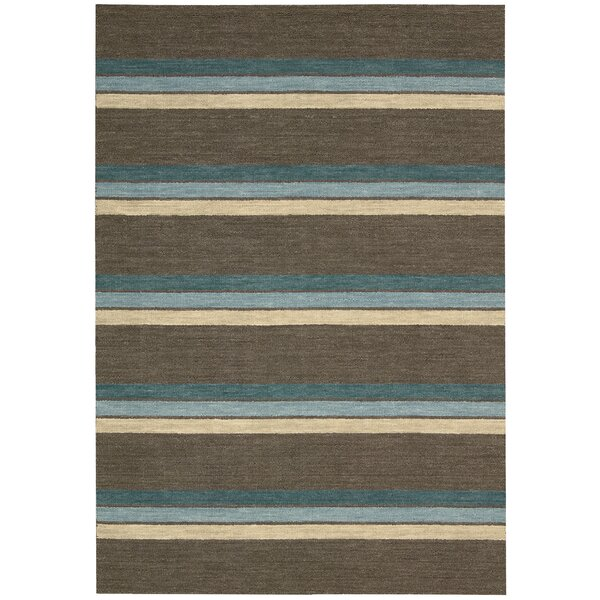 Manford Hand-Woven Brown Area Rug by Barclay Butera