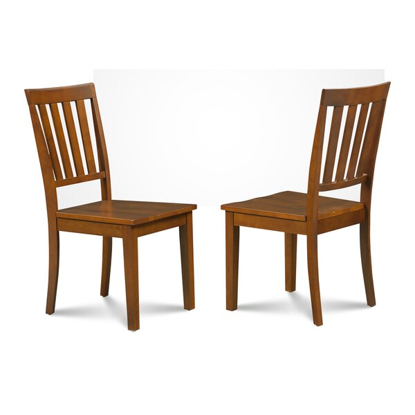 Chicago Solid Wood Dining Chair (Set of 2) by Alcott Hill