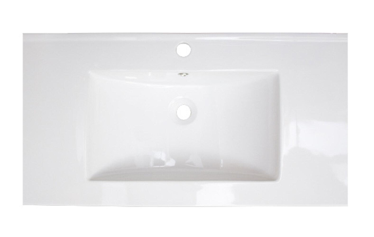 30 40 In Faucet Included Bathroom Sinks You Ll Love In 2021 Wayfair