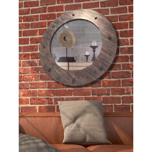 Circular Beveled Glass Framed Wall Mirror by Majestic Mirror
