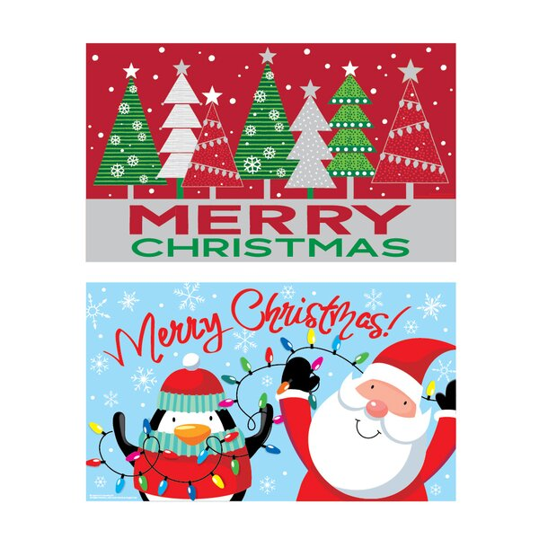 Mordecai 2 Piece Christmas Printed Door Kitchen Mat Set (Set of 2)