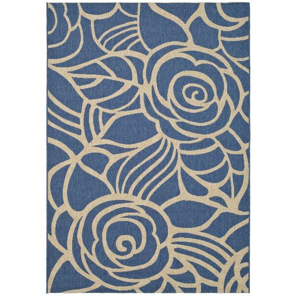 Laurel Blue/Beige Indoor/Outdoor Area Rug by August Grove