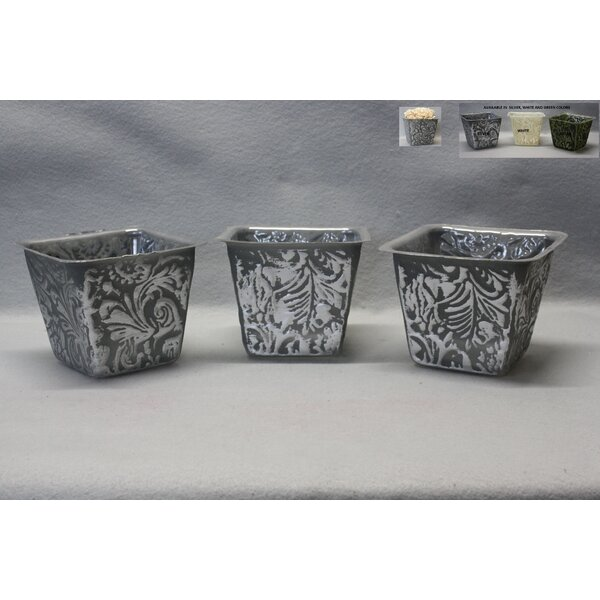 Lakemont 3-Piece Plastic Pot Planter Set (Set of 3) by Bungalow Rose