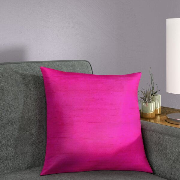 Bradley Solid Silk Throw Pillow by Wrought Studio| @ $49.95