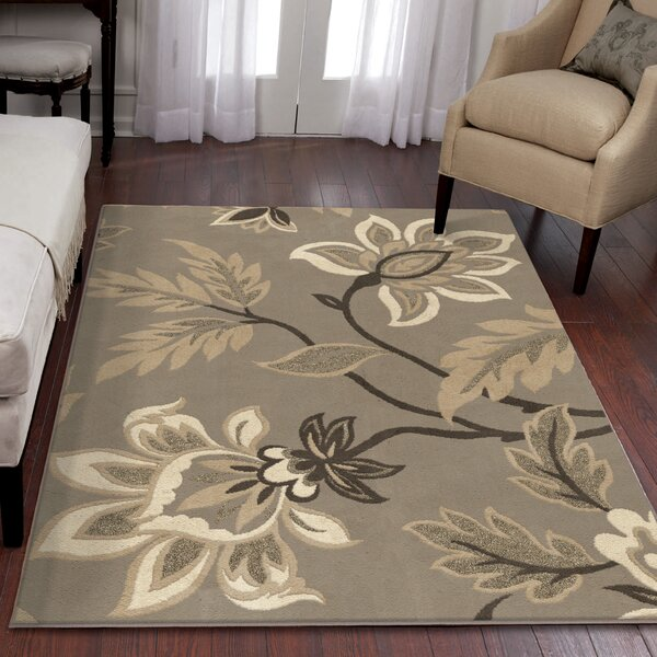 Breitkoff Taupe Area Rug by Charlton Home