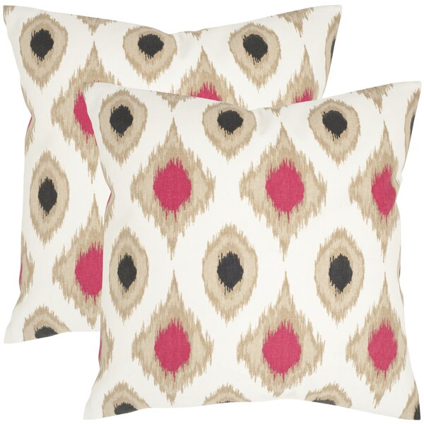 Miranda Cotton Throw Pillow (Set of 2) by Safavieh