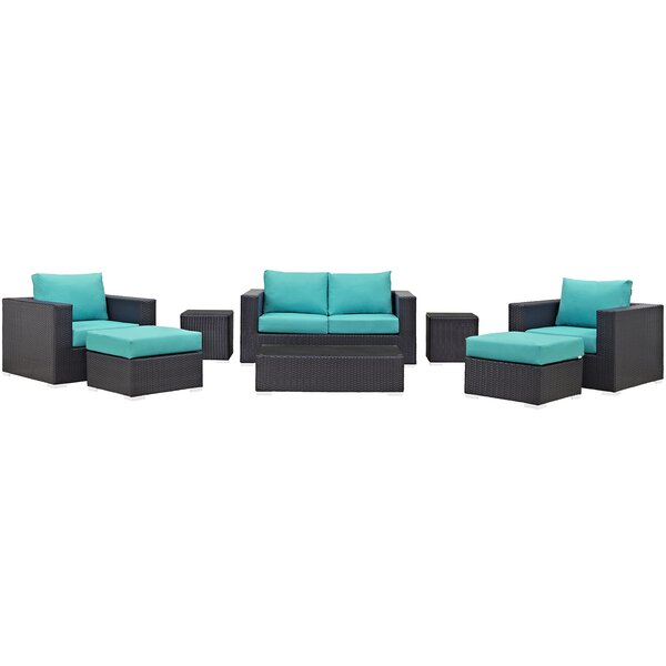 Brentwood 8 Piece Rattan Sofa Seating Group with Cushions by Sol 72 Outdoor