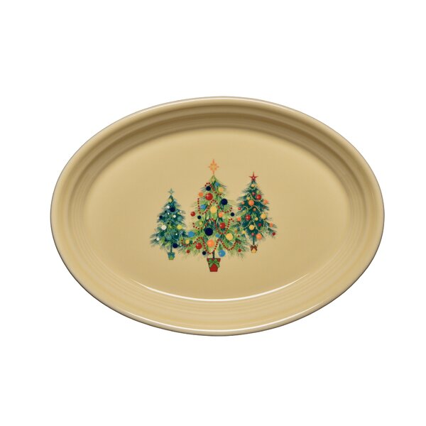 Christmas Tree Oval Platter by Fiesta