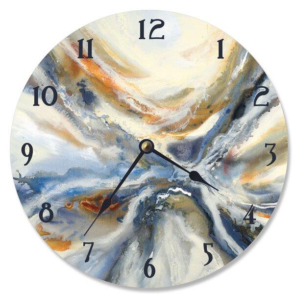 Bevilacqua Abstract Geode 12 Wall Clock by Orren Ellis