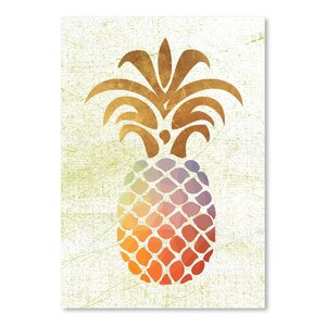 Pineapple 1 Graphic Art in Brown by East Urban Home