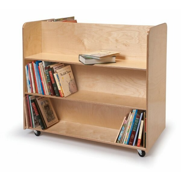 Double-Sided Book Cart by Whitney Brothers