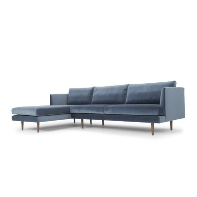 Foundstone Velvet Sectional Orientation Sectionals