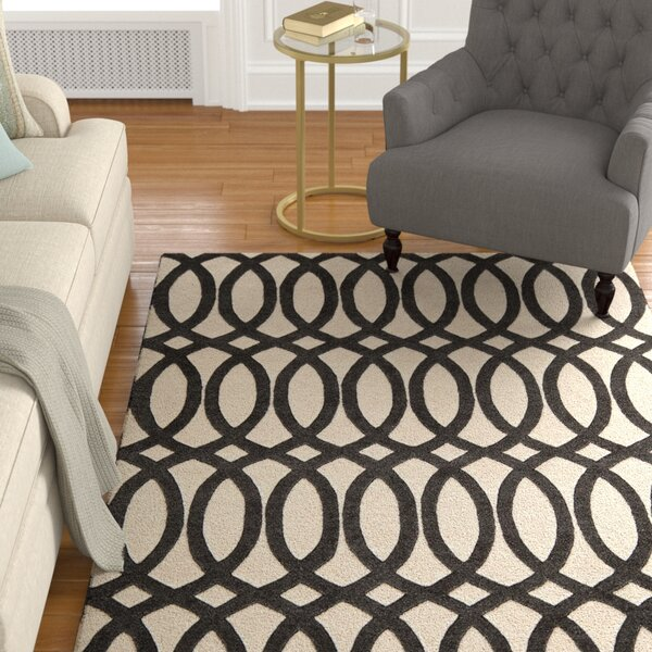 Elmore Hand-Tufted Black Area Rug by Darby Home Co