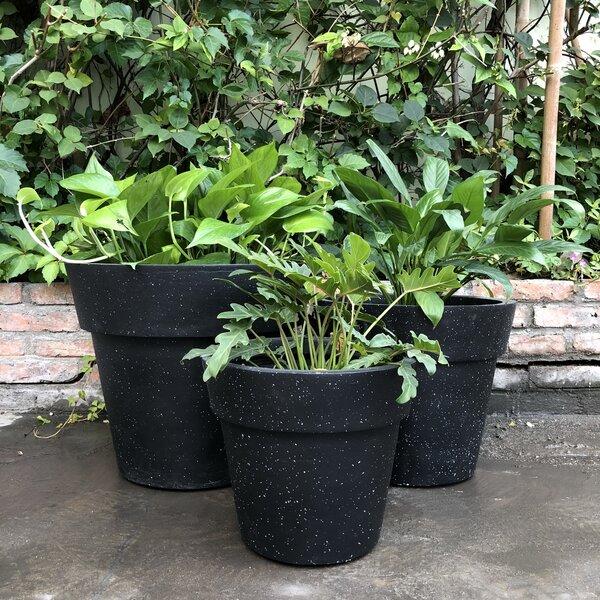 Luciano Stackable 3-Piece Concrete Pot Planter Set by Charlton Home