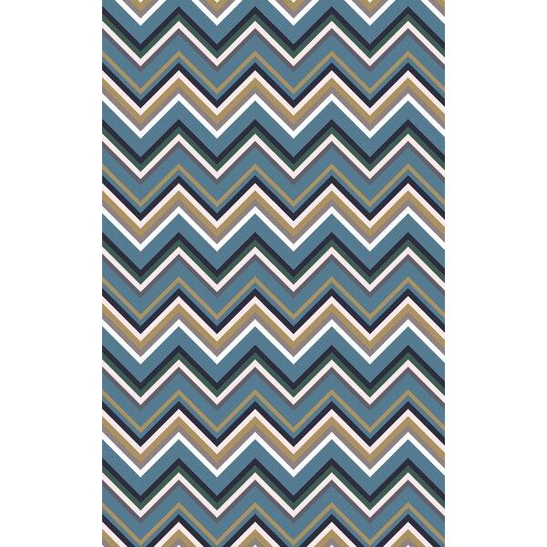 Diego Blue Area Rug by Ebern Designs