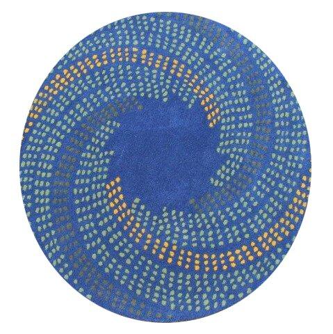 Turton Hand-Woven Blue Area Rug by Latitude Run