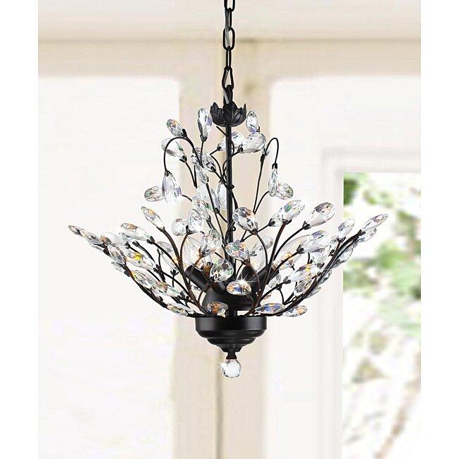 Wallenstein leaves 4 light led mini chandelier