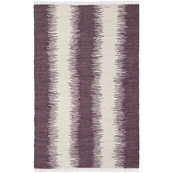 Lotie Hand-Woven Purple Area Rug by Zipcode Design